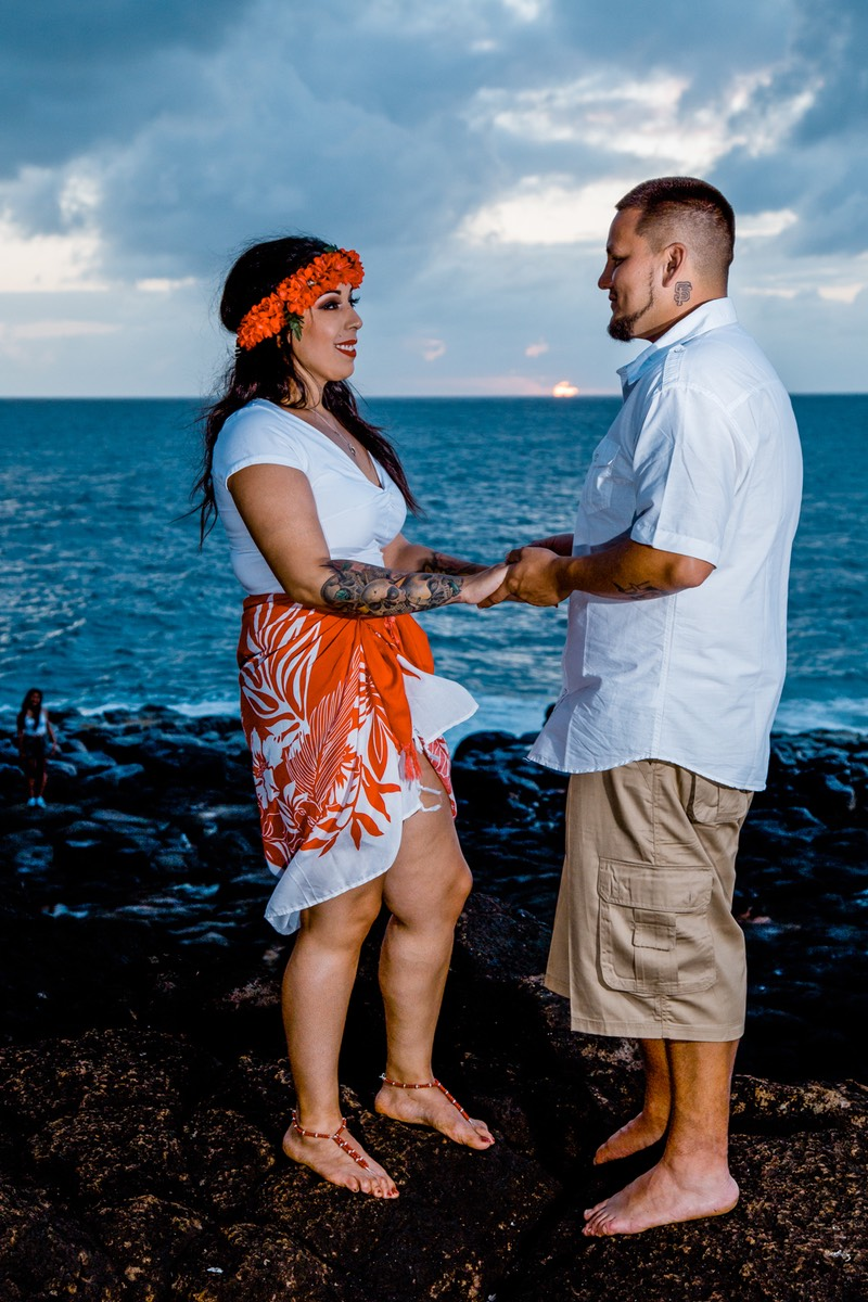 Sunset at last. Kauai wedding photographer Difraser