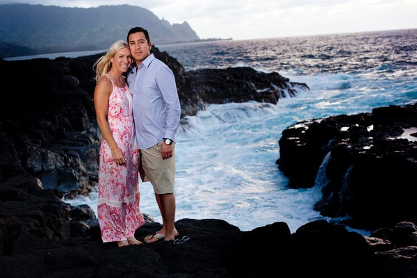 Young wedding couple Kauai wedding videography Difraser photo