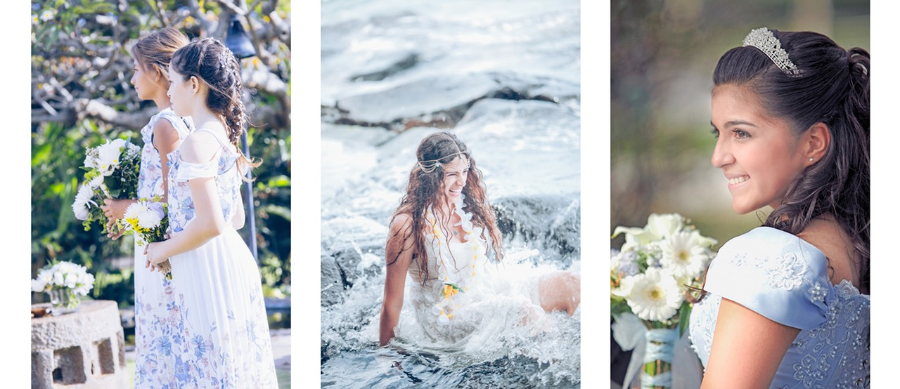 wedding photography Kauai  featuring bridesmaids