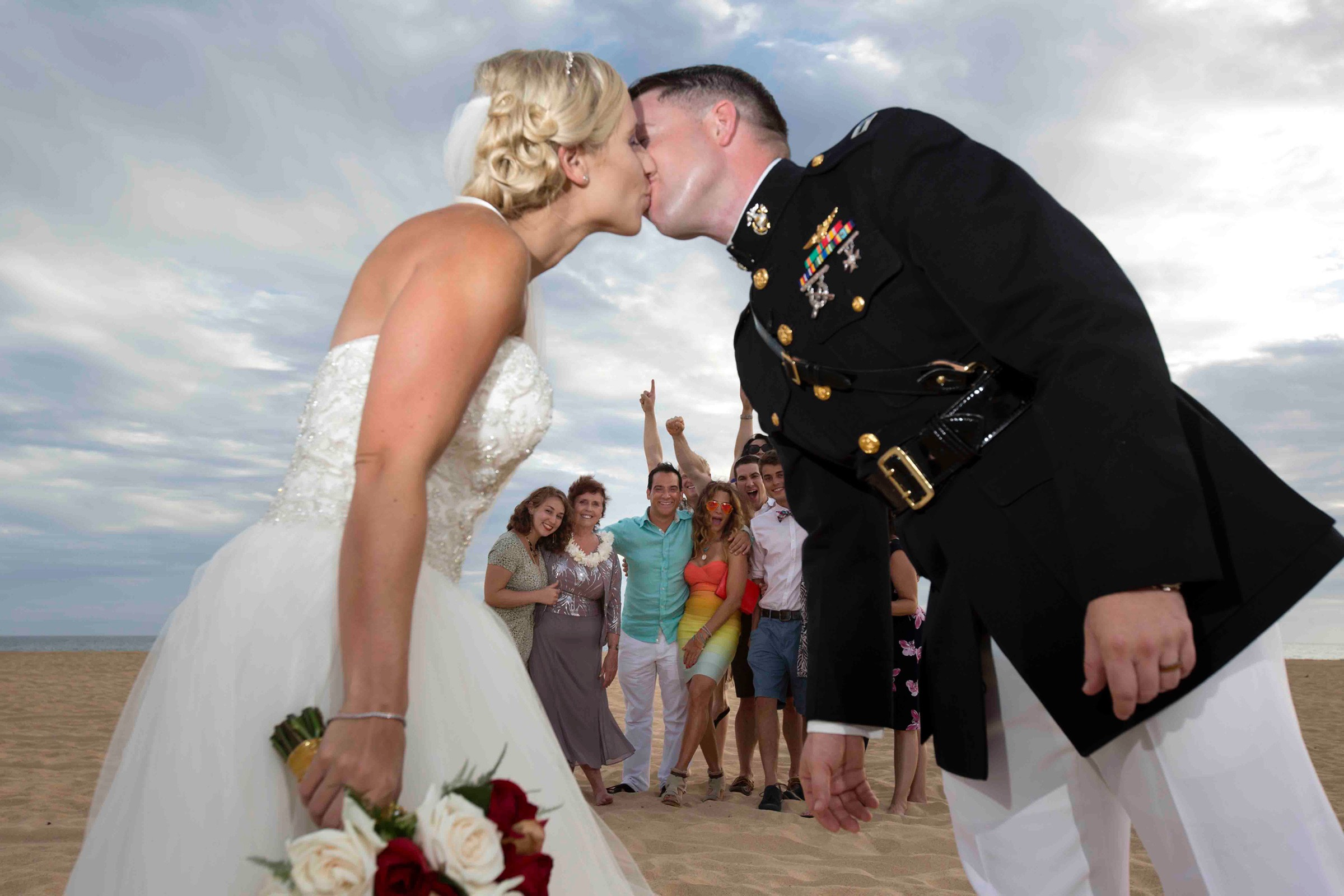 Kauai wedding videographer Difraser  PMRF marine wedding