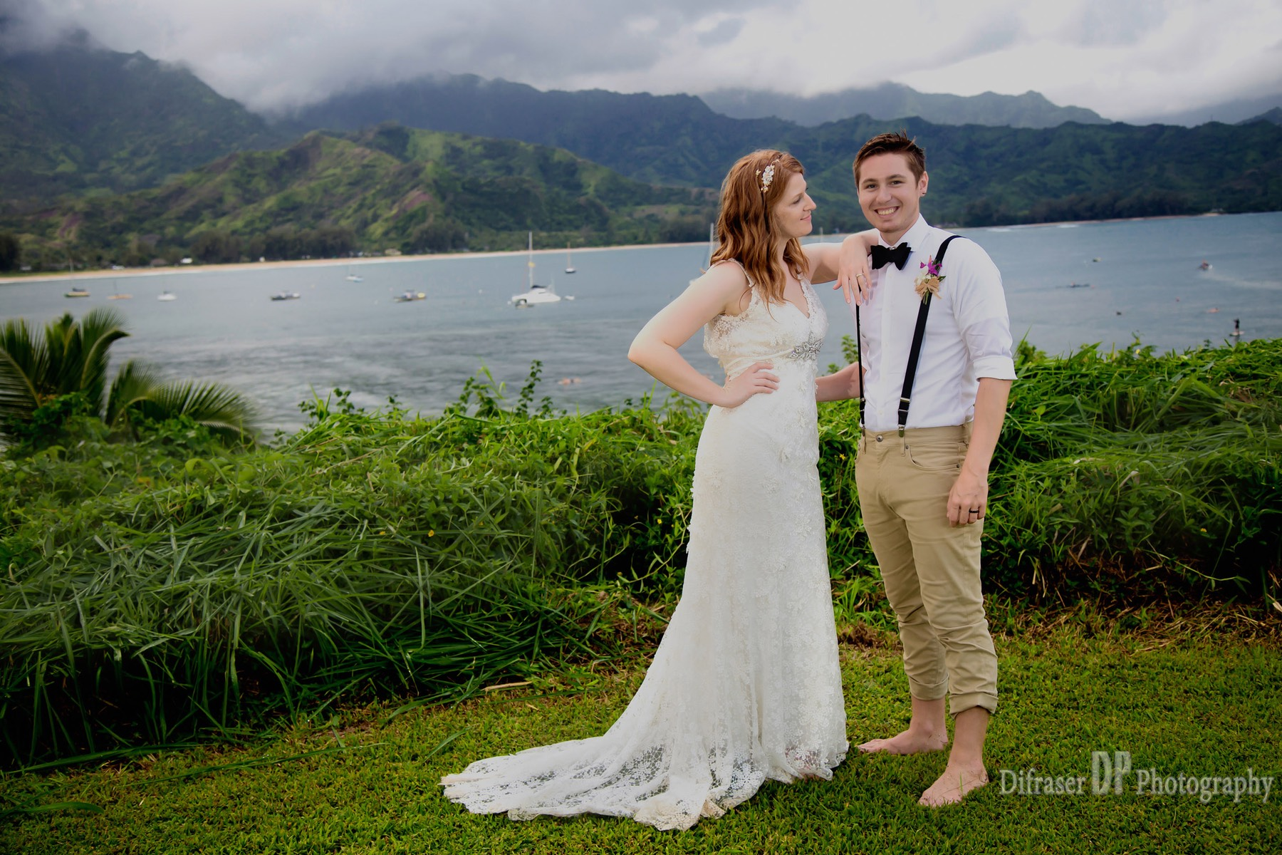Kauai wedding videographer Hanalei Bay Difraser photography