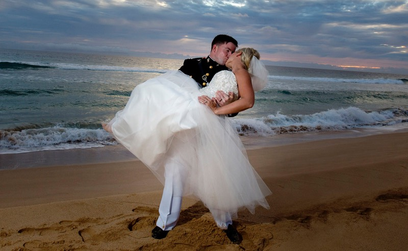 Marine's wedding at the PMRF Kauai photography by Difraser