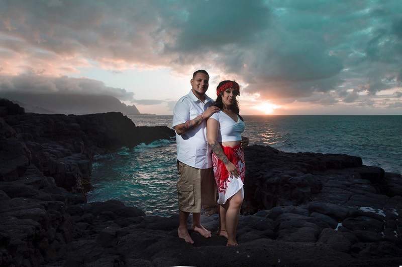Queens Bath Kauai wedding photography