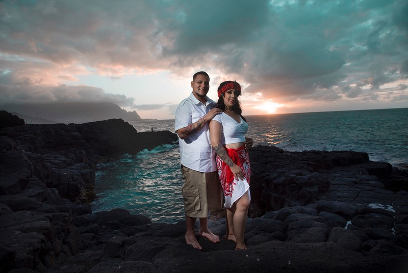 wedding photography Kauai north shore location, photo by Difraser