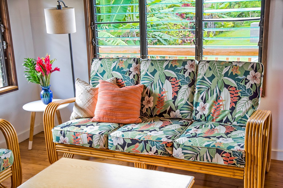 Queens Bath Kauai vacation rental living room
